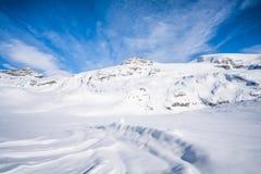 Alpi italiane nell'inverno Fotografie Stock
