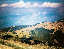 Alpi italiane nelle nuvole Fotografie Stock