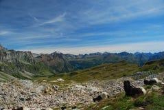 Alpi italiane, paesaggio di elevata altitudine Fotografia Stock