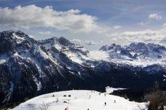 Alpi italiane per corsa con gli sci 9 Fotografie Stock Libere da Diritti
