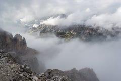 Alpi italiane, punto di vista di Val Gardena Immagine Stock Libera da Diritti