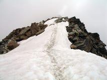 Alpi italiane; Rifugio Q. Sella Fotografia Stock Libera da Diritti