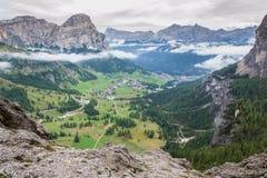 Alpi italiane in Val Badia Immagini Stock