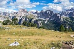 Alpi italiane in Val Badia Fotografia Stock Libera da Diritti