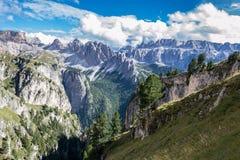 Alpi italiane in Val Badia Fotografia Stock