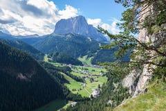 Alpi italiane in Val Gardena Fotografie Stock