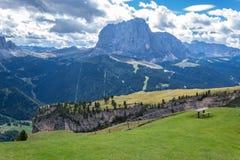 Alpi italiane in Val Gardena Immagini Stock