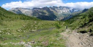 Alpi italiane; Valtournenche Fotografie Stock