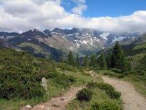 Alpi italiane; Valtournenche Immagine Stock