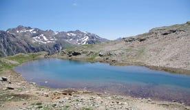 Alpi - lago Forcola - Livigno, Italia Immagine Stock