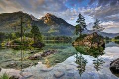 Alpi, lago Hintersee Immagini Stock