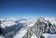 alpi Les Contamines france Fotografia Stock Libera da Diritti