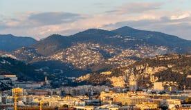 Alpi ligure in Nizza, d'Azur di Côte, Francia Fotografie Stock Libere da Diritti