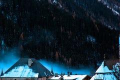 Alpi magiche nell'inverno Fotografia Stock