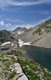 Alpi marittime, Italia Mountain Lake Immagini Stock Libere da Diritti
