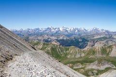 Alpi montagna, escursione di Chaberton del supporto Fotografia Stock