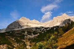 Alpi, montagne e rocce Fotografie Stock