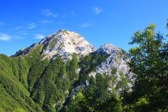 Alpi Mt. Kaikomagatake del Giappone Immagine Stock