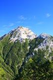 Alpi Mt. Kaikomagatake del Giappone Fotografia Stock