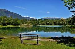 Alpi-Nationalpark italiane Stilfser Joch e Angelsee Fotografia Stock