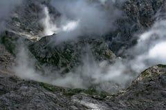 Alpi in nebbia Fotografia Stock