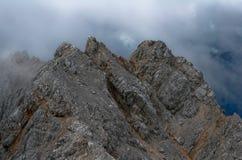 Alpi in nebbia Immagine Stock