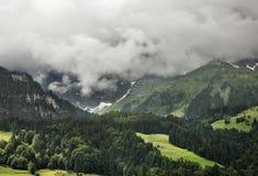 Alpi nel cantone del Canton Nidvaldo switzerland Fotografie Stock