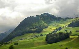 Alpi nel cantone del Canton Nidvaldo switzerland Immagine Stock Libera da Diritti