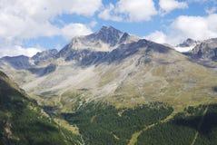 Alpi nel Vinschgau Fotografia Stock