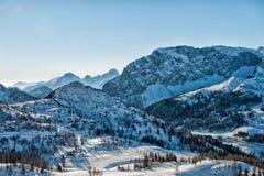 Alpi nell'inverno Fotografie Stock