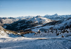 Alpi nell'inverno Fotografia Stock