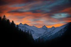 Alpi nell'inverno Immagine Stock