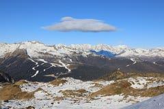 Alpi nell'inverno Immagini Stock Libere da Diritti