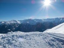 Alpi nell'inverno in Austria Fotografia Stock Libera da Diritti