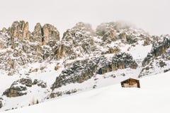 Alpi nell'inverno, Italia della dolomia Fotografie Stock