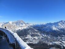 Alpi nell'orario invernale Fotografia Stock Libera da Diritti