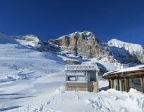 Alpi nell'orario invernale Fotografie Stock Libere da Diritti