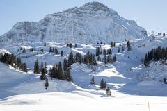 Alpi nella neve, austriaca Immagini Stock