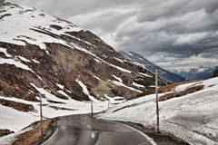 Alpi nella pioggia. Immagine Stock Libera da Diritti
