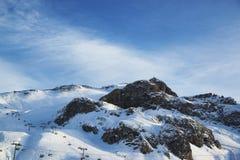 Alpi nella stazione sciistica di inverno di Ischgl - alpi della montagna, Austria Fotografia Stock