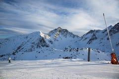 Alpi nella stazione sciistica di inverno di Ischgl - alpi della montagna, Austria Fotografia Stock Libera da Diritti