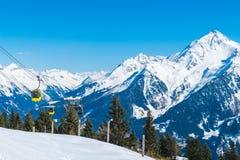Alpi nella stazione sciistica di Mayrhofen, Austria Fotografie Stock Libere da Diritti