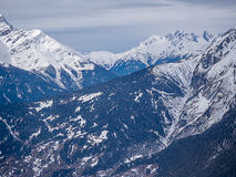 Alpi nevose di Europa delle montagne in Austria Fotografia Stock Libera da Diritti