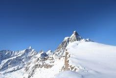 Alpi nevose di inverno Fotografia Stock Libera da Diritti
