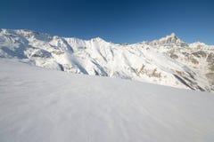 Alpi occidentali italiane nell'inverno Immagine Stock Libera da Diritti