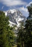 Alpi occidentali Paesaggio italiano di estate di Mont Blanc del lato Mont Blanc è il più alto picco delle alpi occidentali europe Immagine Stock Libera da Diritti
