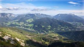 Alpi - Outlook da Watzmannhaus Fotografie Stock Libere da Diritti