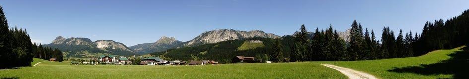 Alpi panoramiche dell'immagine Immagini Stock Libere da Diritti