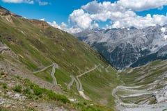 Alpi Passo Stelvio delle montagne Fotografie Stock
