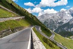 Alpi Passo Stelvio delle montagne Fotografie Stock Libere da Diritti
